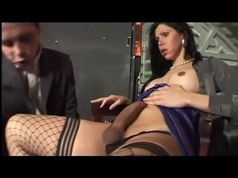 Stockings Shemale Enjoy An Hard Cocl