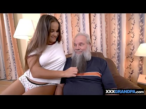 Grandpa With A Grey Beard Fucking A Curvy Teen Babe