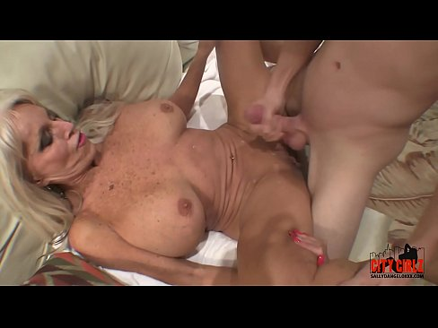 Young Guy Slams His Young Cock To Mature MILF  Sally D'angelo