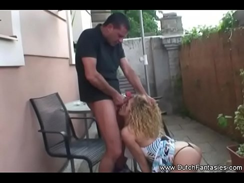 Dutch Blonde Rough Facial Blowjob