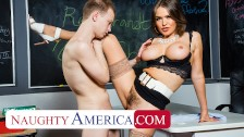 naughty america – professor krissy lynn takes her students big cock